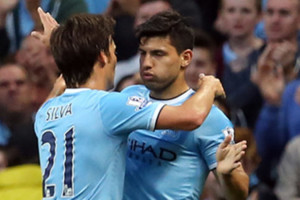 Aguero Silva Man City Vs Newcastle
