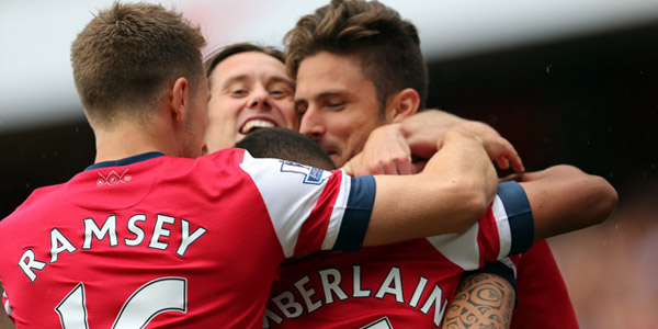 Giroud Chamberlain Rosicky Ramsey Vs Aston Villa