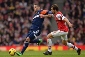 Clint Dempsey Fulham Mathieu Flamini Arsenal