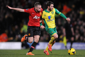 Tom Cleverley Man Utd We Hoolahan Norwich