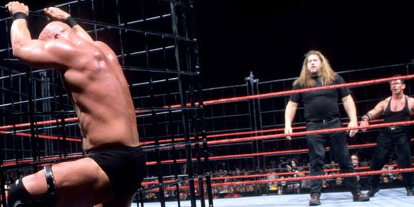 Image result for Stone Cold Steve Austin vs. Vince McMahon cage