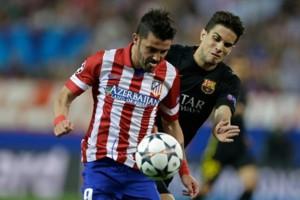 Atletico Madrid David Villa Barcelona Marc Bartra