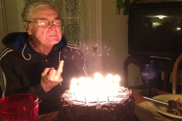 Image result for old man blowing out candles images