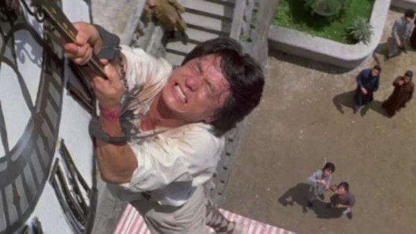 Jackie Chan clock stunt in Project A