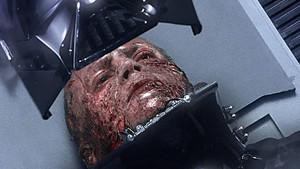 Star Wars Vader Mask On