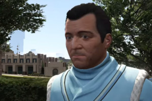 Michael Grand Theft Auto Gta V Epsilon Robe Close Up