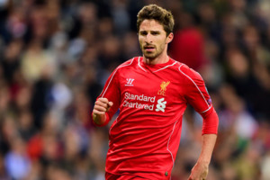 Liverpool's Fabio Borini during the UEFA Champions League Group B match at the Santiago Bernabeu, Madrid, Spain. PRESS ASSOCIATION Photo. Picture date: Tuesday November 4, 2014. See PA story SOCCER Madrid. Photo credit should read Adam Davy/PA Wire.