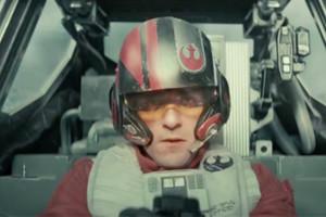 Star Wars The Force Awakens Oscar Issac Poe Dameron X-Wing Cockpit Trailer