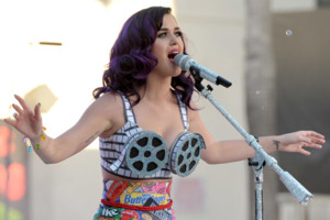 Katy Perry performs at the premiere of