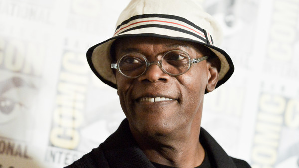 Samuel L. Jackson attends the Marvel press line on day 3 of Comic-Con International on Saturday, July 26, 2014, in San Diego. (Photo by Richard Shotwell/Invision/AP)