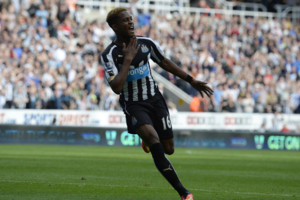 Newcastle's Rolando Aarons celebrates his goal during the Barclays Premier League match at St James' Park, Newcastle. PRESS ASSOCIATION Photo. Picture date: Saturday August 30, 2014. See PA story SOCCER Newcastle. Photo credit should read: Owen Hu