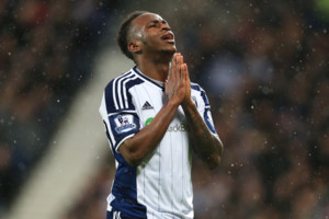 West Bromwich Albion's Saido Berahino prays for a miracle