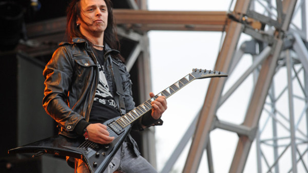 Bullet For My Valentine perform on stage on Day 1 of Sonisphere Festival at Knebworth.