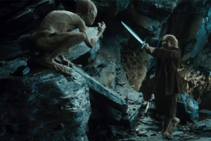 The Hobbit An Unexpected Journey Gollum Bilbo Baggins Martin Freeman Andy Serkis