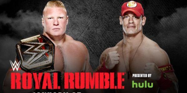 WWE Champion Brock Lesnar Vs John Cena At Royal Rumble 2015