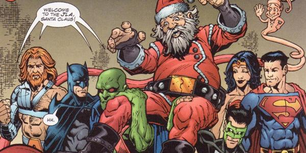 Podcast DC Earth Jla-santa-claus