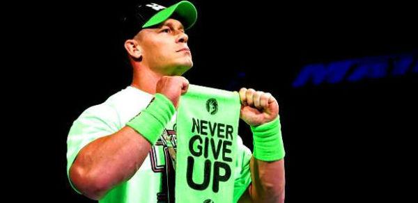 WWE Authentic JOHN CENA men's T Shirt Never Give Up Purple ...  |John Cena Logo Never Give Up 2014