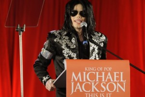 FILE - In this March 5, 2009 file photo, US singer Michael Jackson announces that he is set to play a series of comeback concerts at the London O2 Arena in July, which he announced at a press conference at the London O2 Arena. Attorneys for Katherine Jack