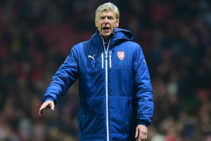 Arsenal manager Arsene Wenger during the UEFA Champions League match at the Emirates Stadium, London.