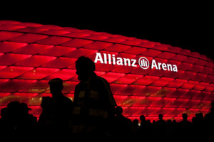 General view of Allianz Arena as the fans leave the stadium
