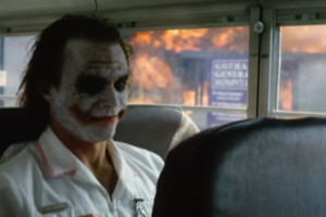 The Dark Knight Joker Heath Ledger Nurse Bus
