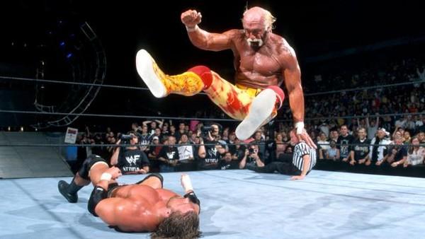 Backlash 2002 Hulk Hogan Triple H Legdrop
