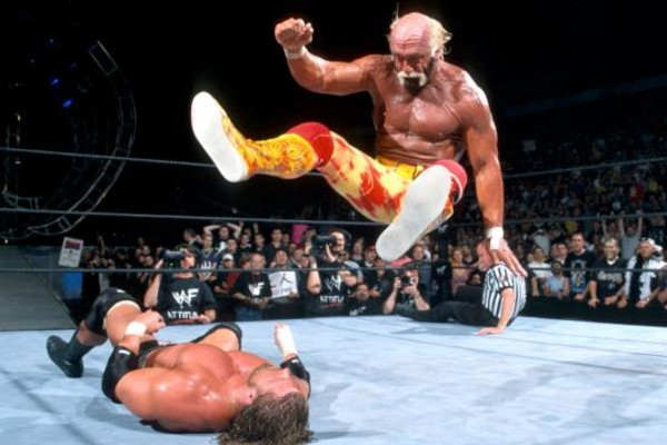 Backlash 2002 Hulk Hogan Triple H Legdrop