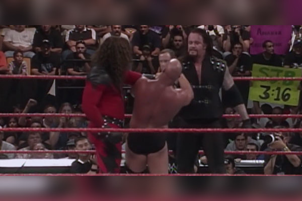Resultado de imagem para stone cold vs kane vs undertaker breakdown