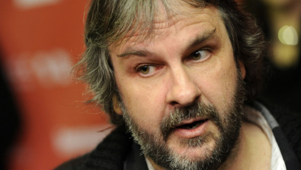 FILE - In this Jan. 20, 2012 file photo, Peter Jackson is interviewed at the 2012 Sundance Film Festival in Park City, Utah. Jackson's movie trilogy