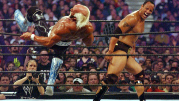 The Rock Hulk Hogan Wrestlemania 18
