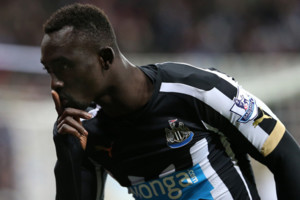 Newcastle United's Papiss Cisse during their English Premier League soccer match between Newcastle United and Everton at St James' Park, Newcastle, England, Sunday, Dec. 28, 2014. (AP Photo/Scott Heppell)