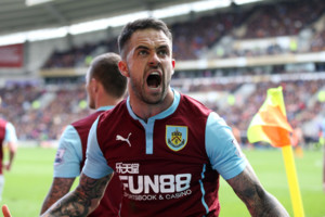 Burnley's Danny Ings celebrates