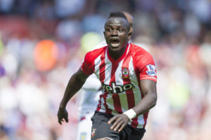 Southampton's Sadio Mane who today scored the fastest hat-trick in Premier League history during the Barclays Premier League match at St Mary's, Southampton.