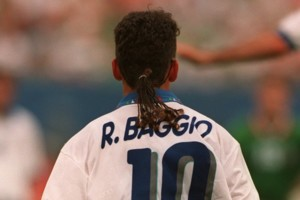 Roberto Baggio, Italy ***** Rear view pony tail