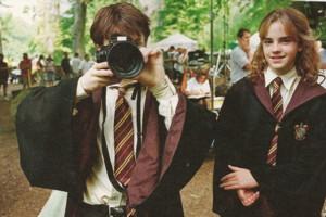 Harry Potter Set Photo Daniel Radcliffe