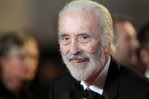 Sir Christopher Lee arrives at the Royal World premiere of Skyfall at the Royal Albert Hall, London.