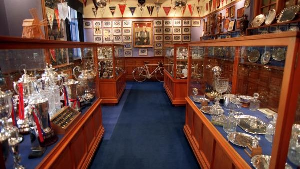 The trophy room at Glasgow Rangers FC, Ibrox Stadium