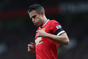 Manchester United's Robin Van Persie during the game against West Bromwich Albion