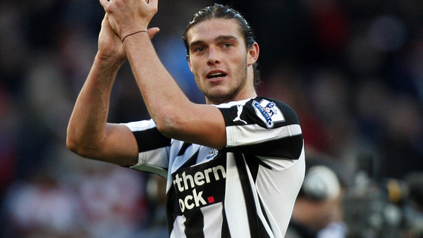 Newcastle United's Andy Carroll reacts after their 0-1 win in the English Premier League soccer match against Arsenal at Arsenal's Emirates Stadium in London, Sunday, Nov. 7, 2010. (AP Photo/Kirsty Wigglesworth) ** NO INTERNET/MOBILE USAGE WITHOUT FOOTBAL