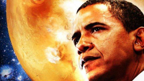 Obama Mars Ufo