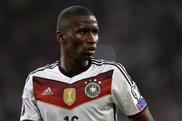Germany's Antonio Rudiger during the UEFA Euro 2016 Qualifying match at the Veltins-Arena, Gelsenkirchen.