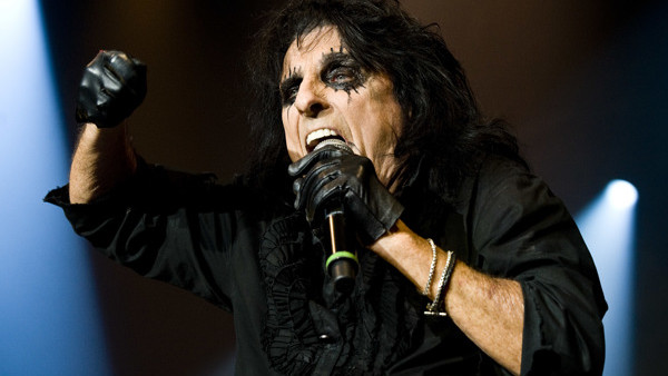 Alice Cooper performs at his Halloween Night Of Fear lll concert at Wembley Arena in London.