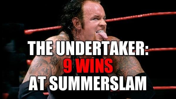 The Undertaker SummerSlam wins