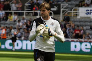 Tim Krul Newcastle United vs Borussia Monchengladbach St James' Park August 1st 2015