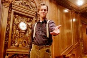Jack Dawson Titanic staircase Leonardo DiCaprio