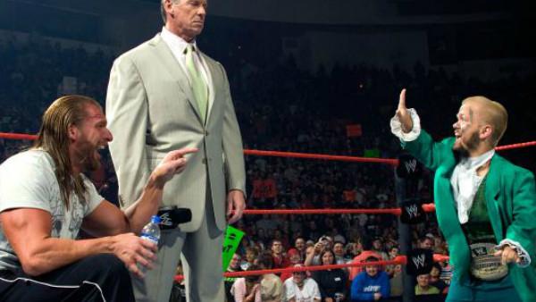 Hornswoggle Vince McMahon Triple H