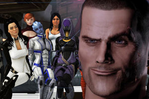 Mass Effect Shepard horny