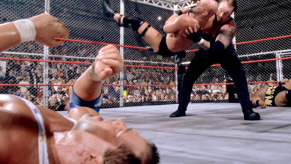 Steve Austin Triple H Hell in a Cell Armageddon 2000