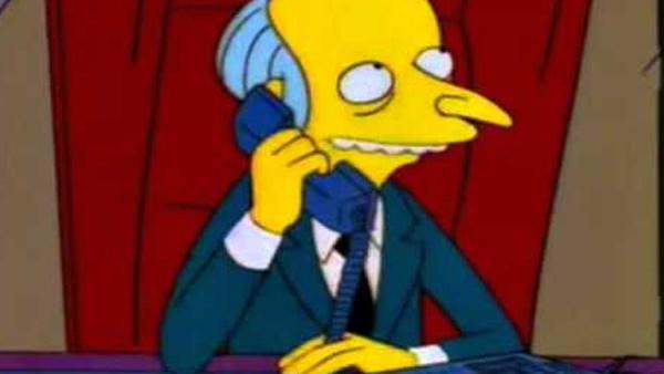 The Simpsons Mr Burns Telephone