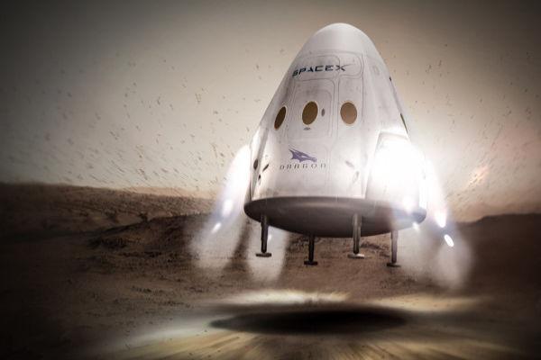 SpaceX Manned Mars Lander